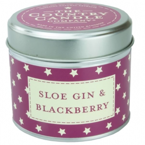 Sloe Gin And Blackberry Candle In A Tin
